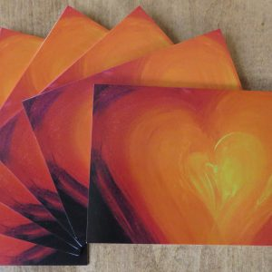 Grateful heart note card, pack of 6 cards and envelopes